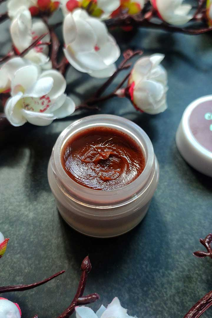 Plum Candy Melts Vegan Lip Balm Mint O Coco Texture