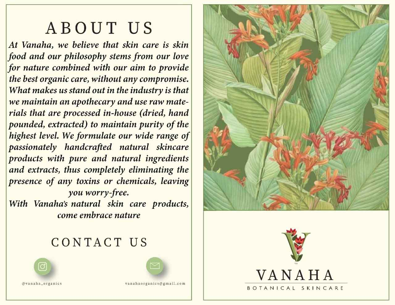 About Vanaha Botanical Skincare Brand
