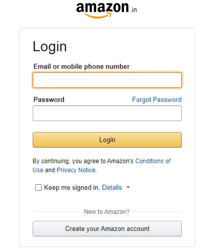 Home Page of Amazon Affiliate Program in India