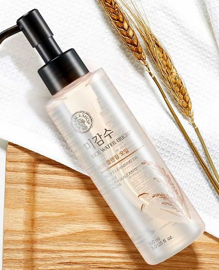 The Face Shop Rice Water Bright Rich Cleansing Oil Bride Essentials for People woth Oily Skin