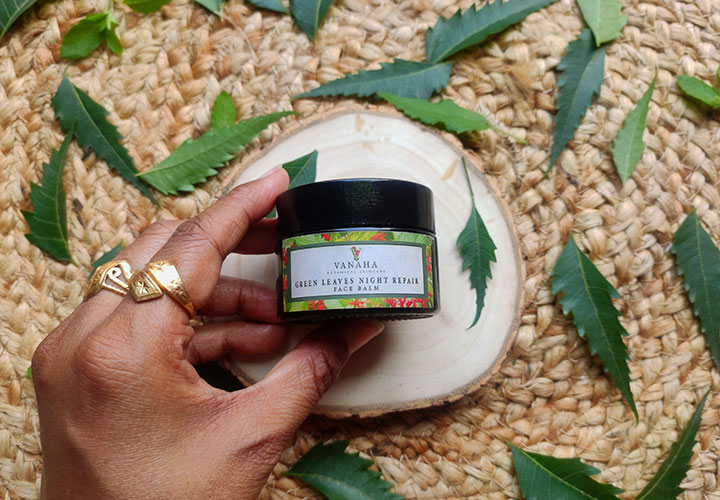 Vanaha Botanical Skincare Green Leaves Night Repair Face Balm Review