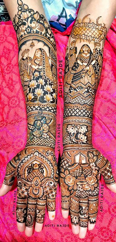 A Beautiful and Unique Mehendi Design