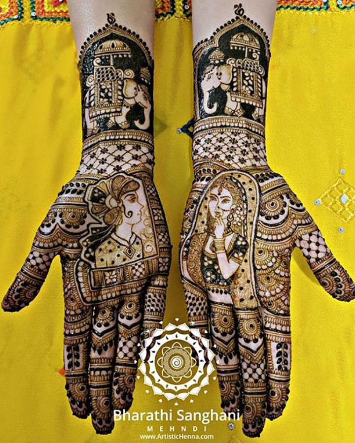A Royal Mehendi Design