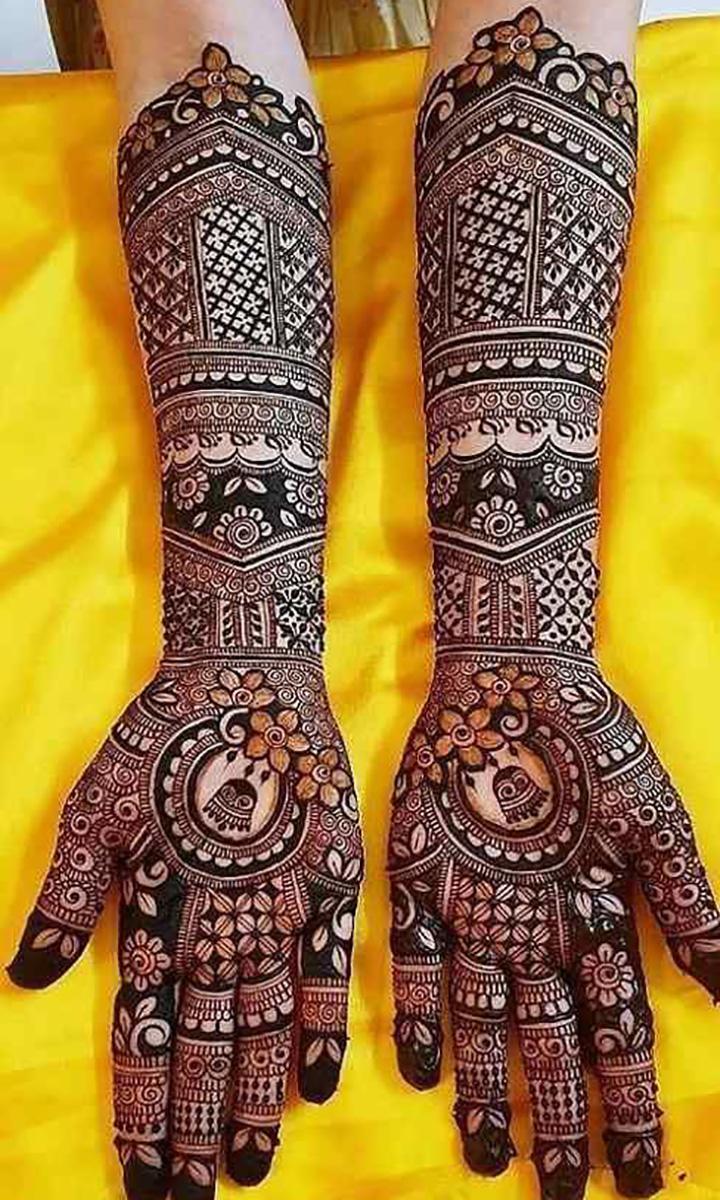 Creative Bridal Mehendi Design