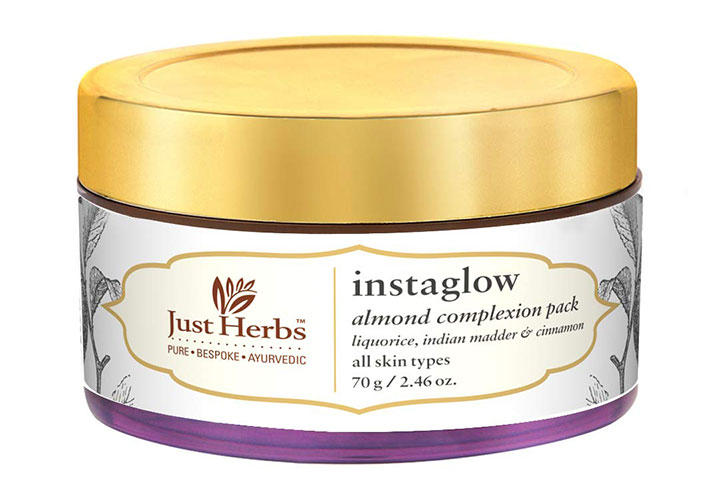 Just Herbs InstaGlow Almond Complexion Pack Best Organic Product in India