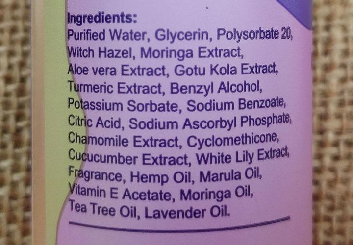 Sanfe Natural Intimate Spray Ingredients