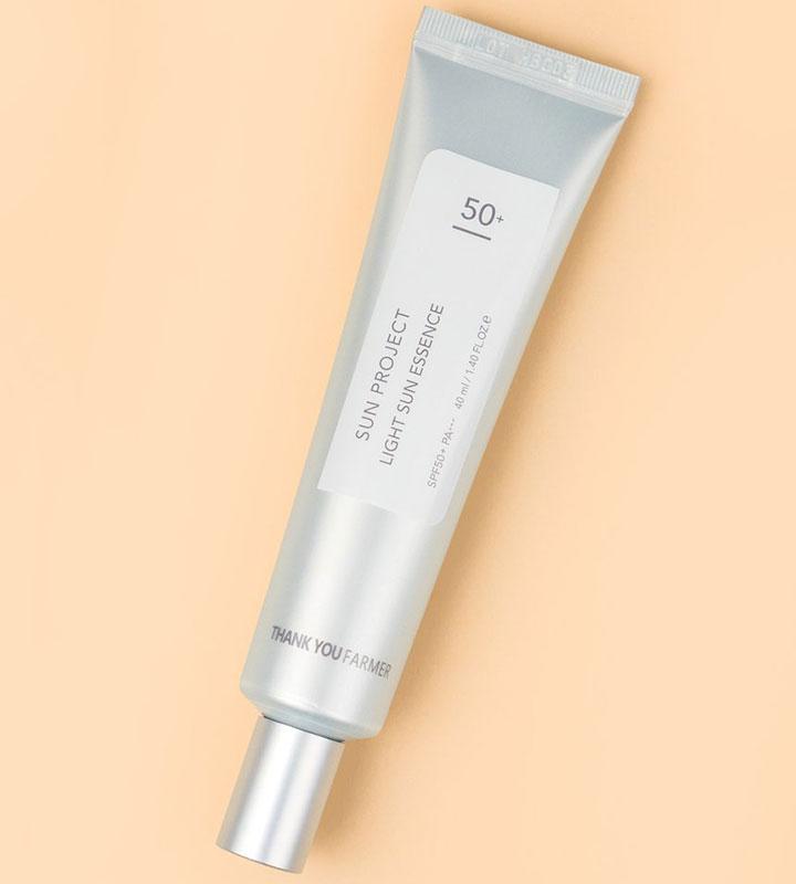 THANK YOU FARMER Project Light Sun Essence Best Korean Sunscreen of All Time