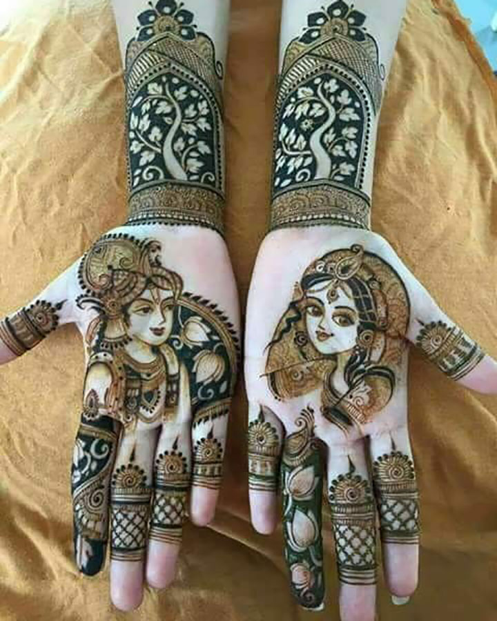 The Perfect Portrait Mehendi You Need to Try Once At Least