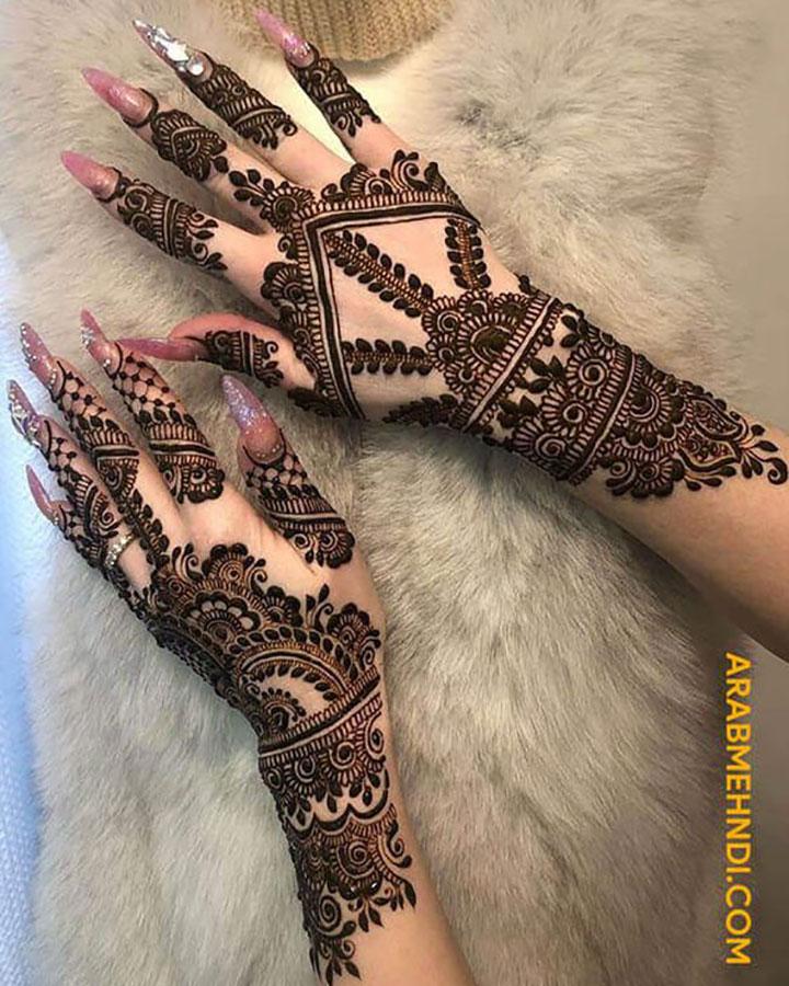 Trendy Arabic Mehendi Design