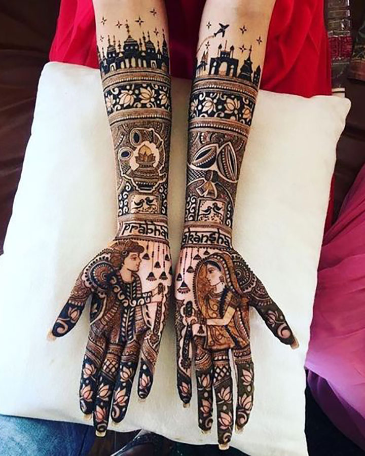Unique Mehendi Design that can Steal Everyone's Heart