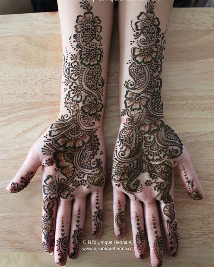 Youthful Bridal Mehendi Design