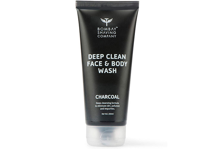 Bombay Shaving Company Activated Charcoal Deep Clean Face & Body Wash Best Body Wash in India for Men