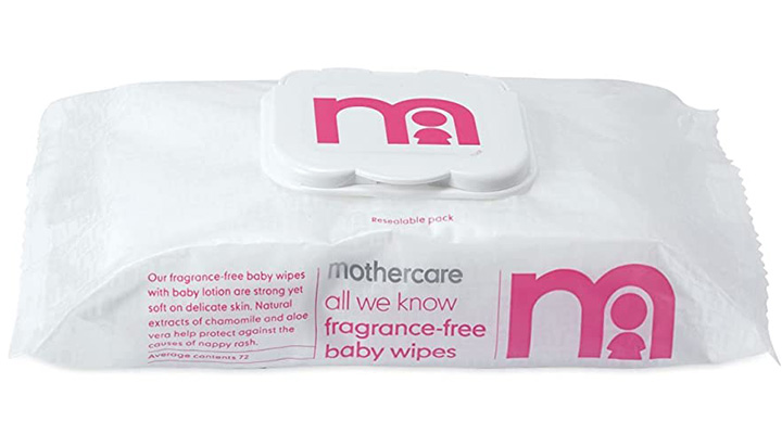 Mothercare All We Know Fragrance Free Baby Wipes Best Unscented Baby Wipes
