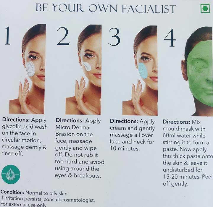 O3+ Professional Sea White Facial Kit Packaging
