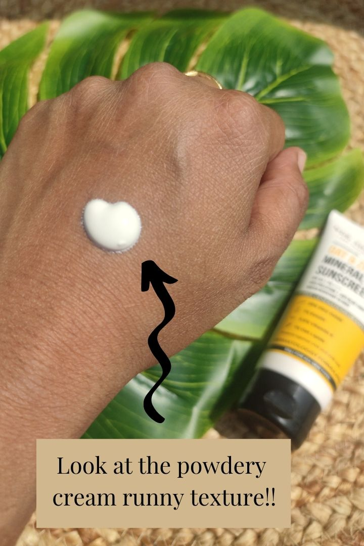 Texture of Dr. Sheth's Oat and Zinc Mineral Sunscreen