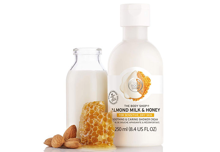 The Body Shop Almond Milk & Honey Soothing & Caring Shower Cream Best Body Wash in India for Sensitive Skin