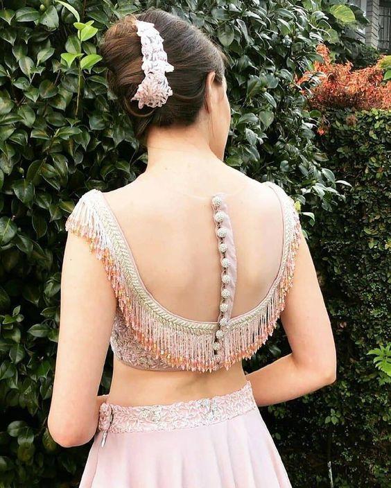 Bridal Blouse Design for Every Tassel Lover