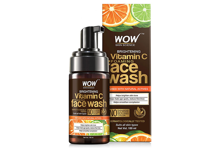Wow Skin Science Brightening Vitamin C Foaming Face Wash Top Face Wash in India