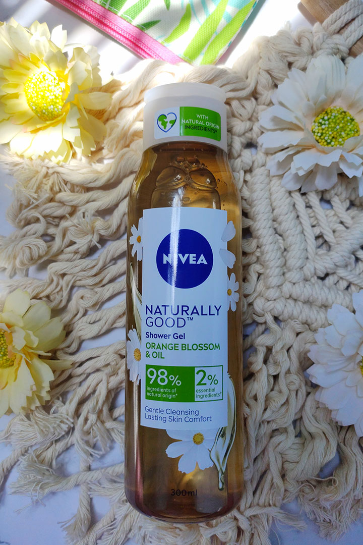 NIVEA Naturally Good Shower Gel with Orange Blossom and Oil