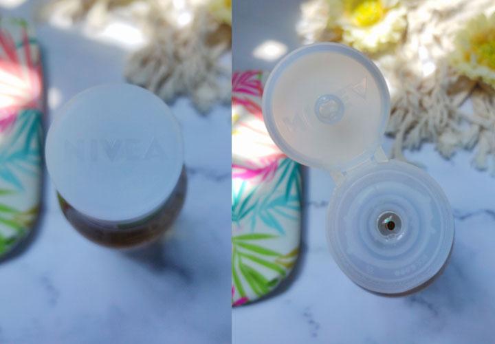 Packaging of NIVEA Naturally Good Shower Gel