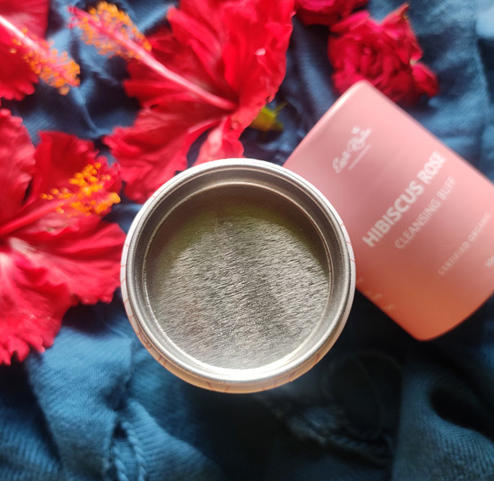 Packaging of Earth Rhythm Hibiscus Rose Cleansing Buff