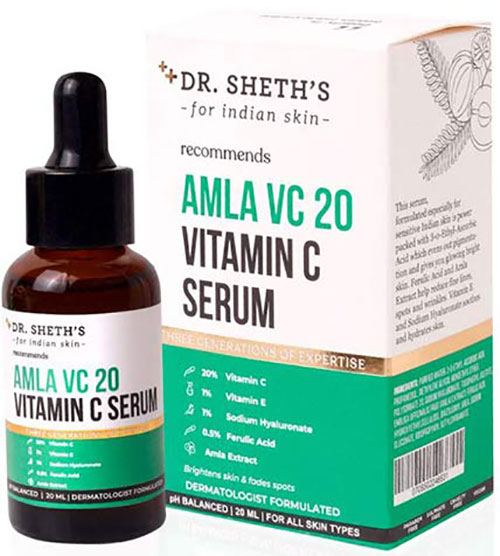 Dr. Sheth's Amla VC20 Vitamin C Serum The Best Vitamin C Serum in India for All Skin Types