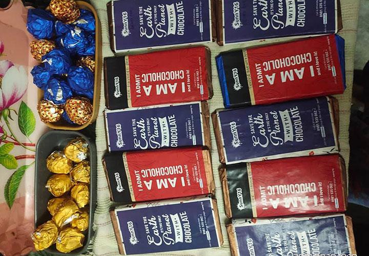 Handmade Chocolates by Tanaya Bardhan under the branding of SunnY16