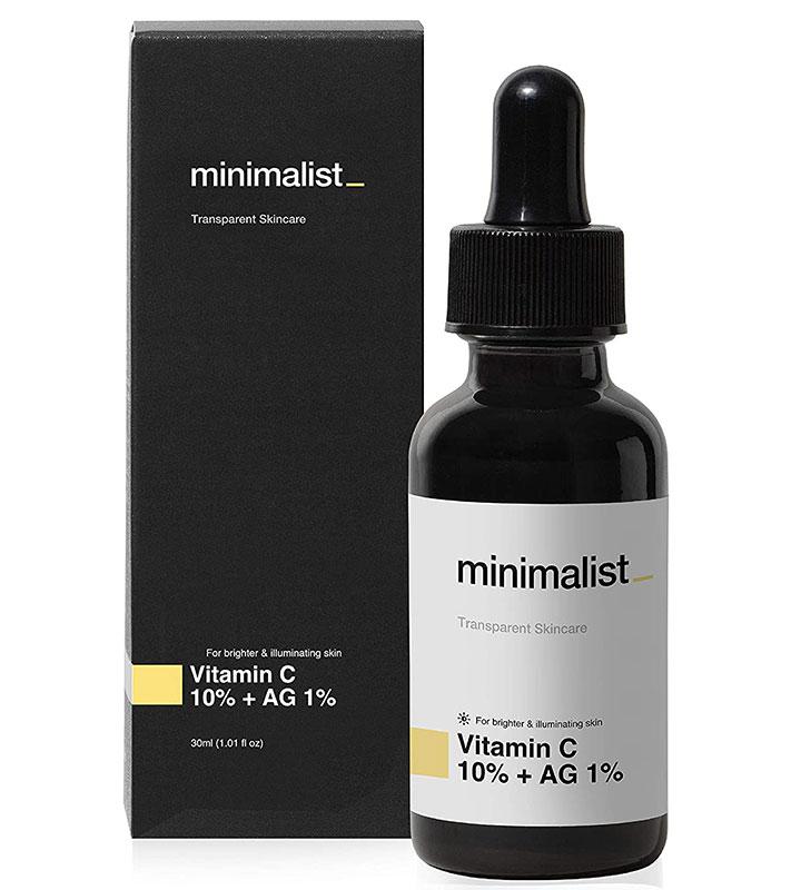 Minimalist 10% Vitamin C Face Serum Best Vitamin C Serum in India for Glowing and Bright Skin