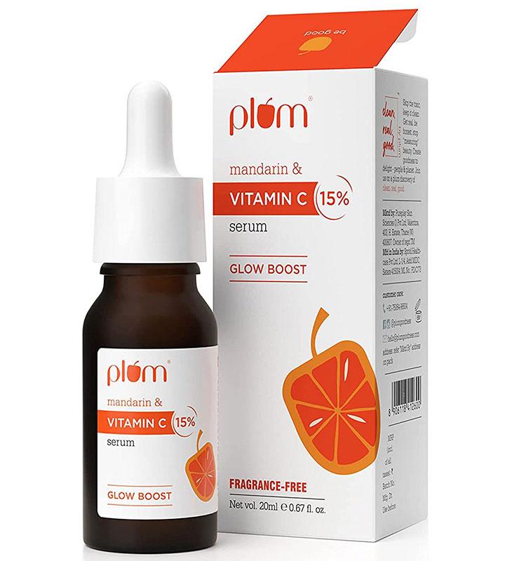 Plum 15% Mandarin and Vitamin C Serum the Best Vitamin C Serum in India for Hyperpigmented and Dull Skin