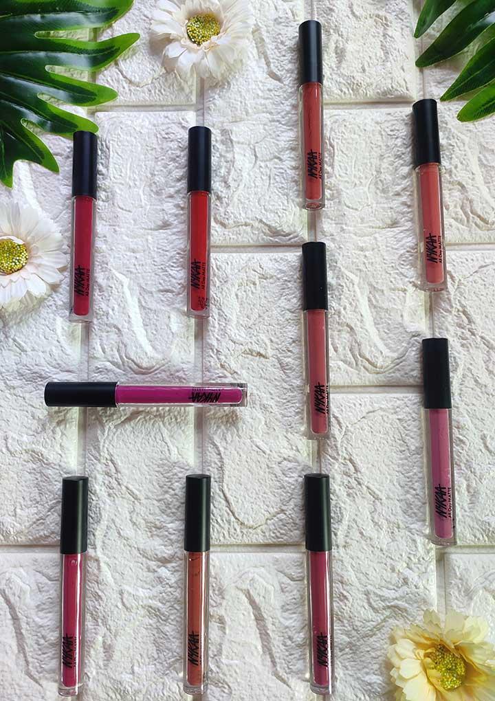 10 Shades of Nykaa All Day Matte Liquid Lipstick