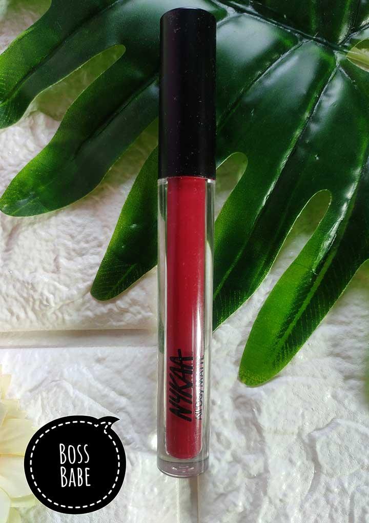 Nykaa All Day Matte Liquid Lipstick Boss Babe