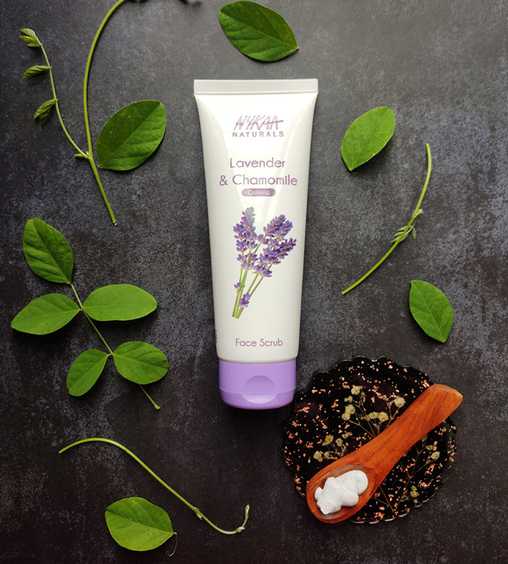 Nykaa Naturals Lavender and Chamomile Face Scrub