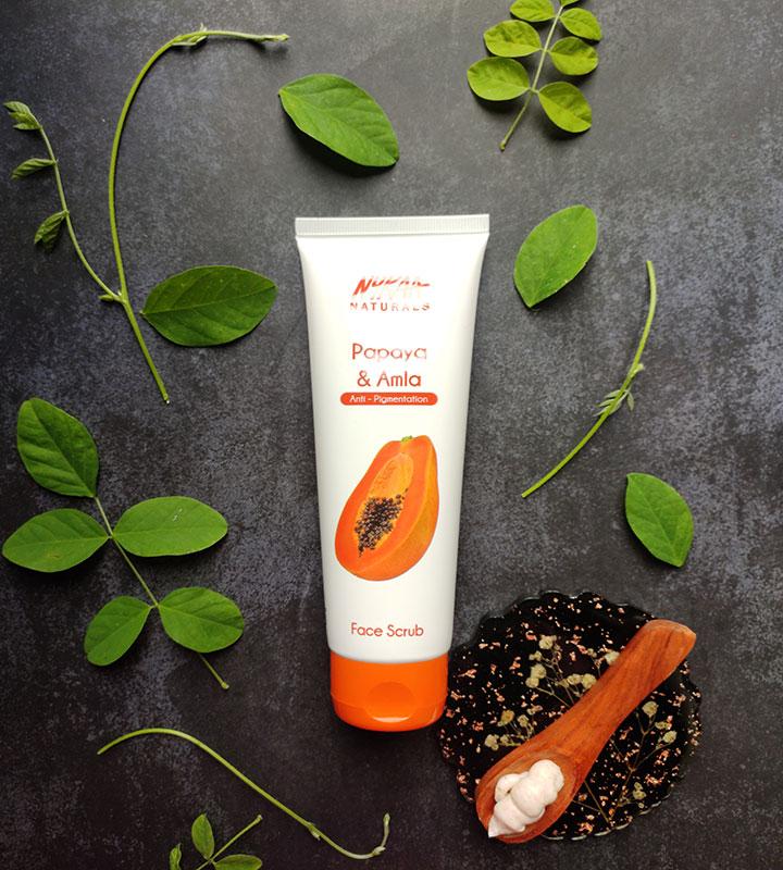 Nykaa Naturals Papaya and Amla Face Scrub