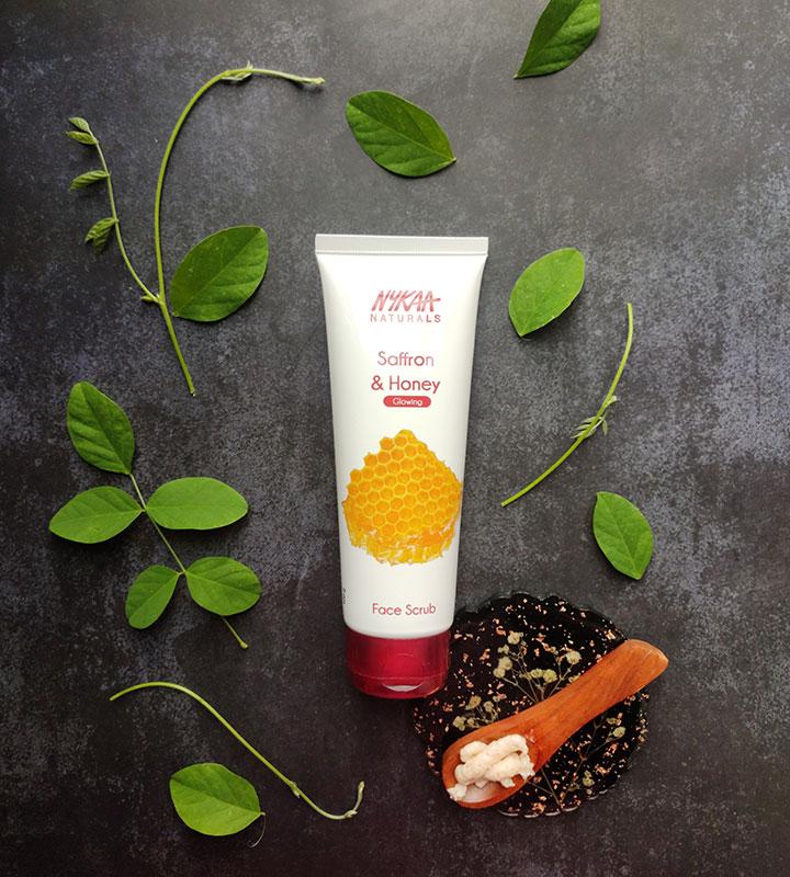 Nykaa Naturals Saffron and Honey Face Scrub