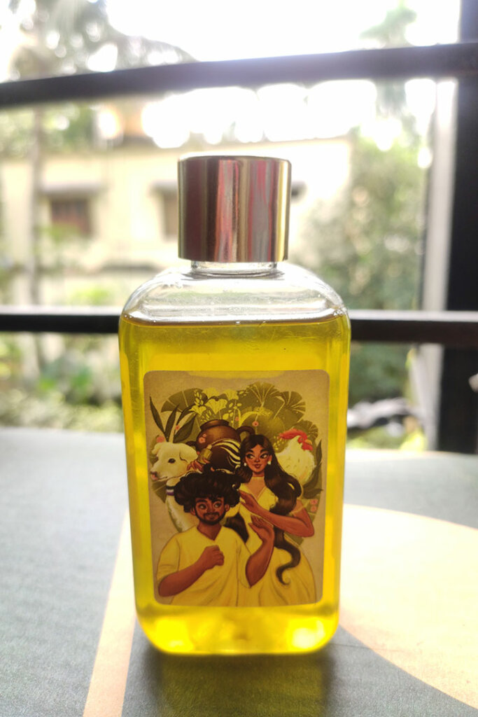 Slow Infusion is the Reason Behind the Mild Olive Hue in the Lancemade Hair Oil