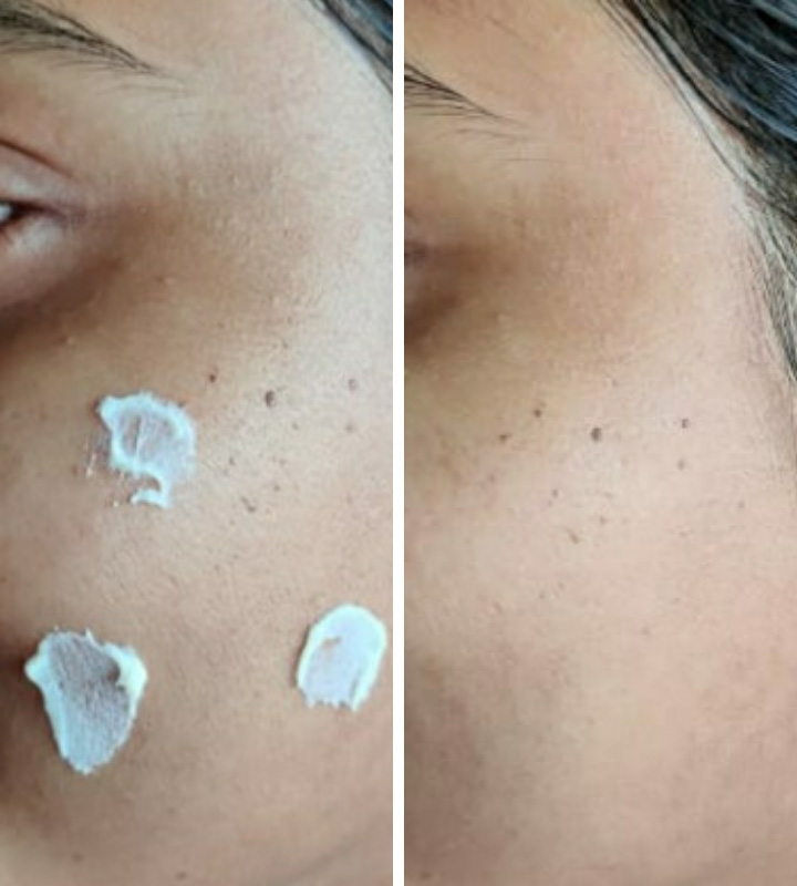 Texture and Application of Re'equil Ultra Matte Dry Touch Sunscreen Gel SPF 50